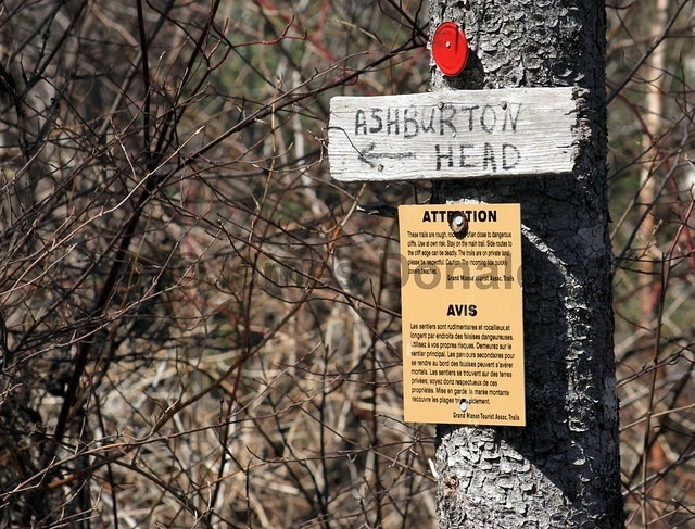 Sign to Ashburton Head