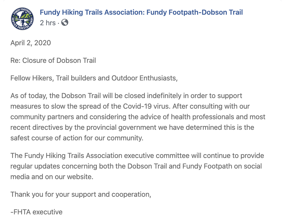 Dobson Trail Closure