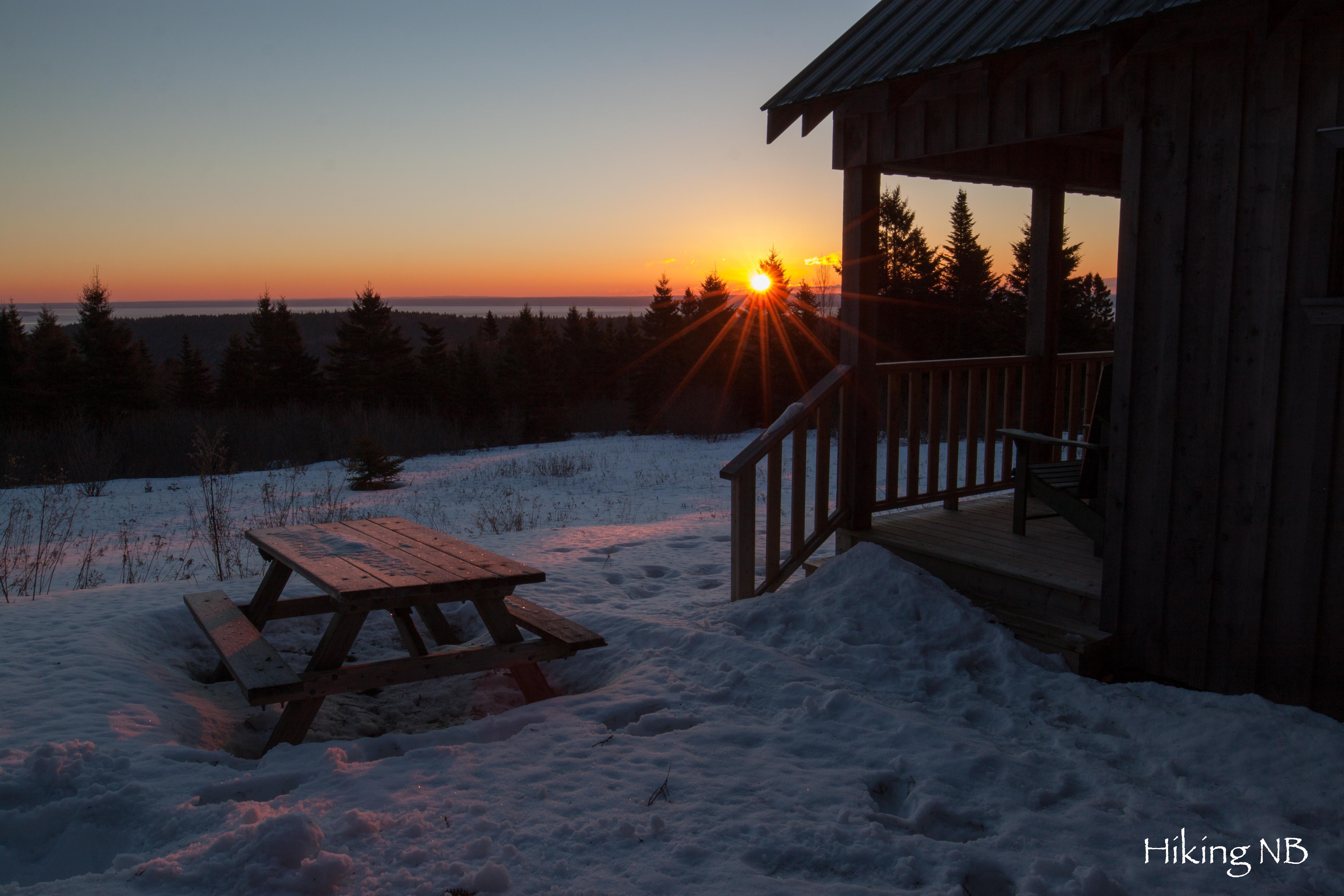 Hastings Cabin at Sunrise